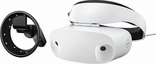 Dell - Visor Virtual Reality Headset and Controllers for Com