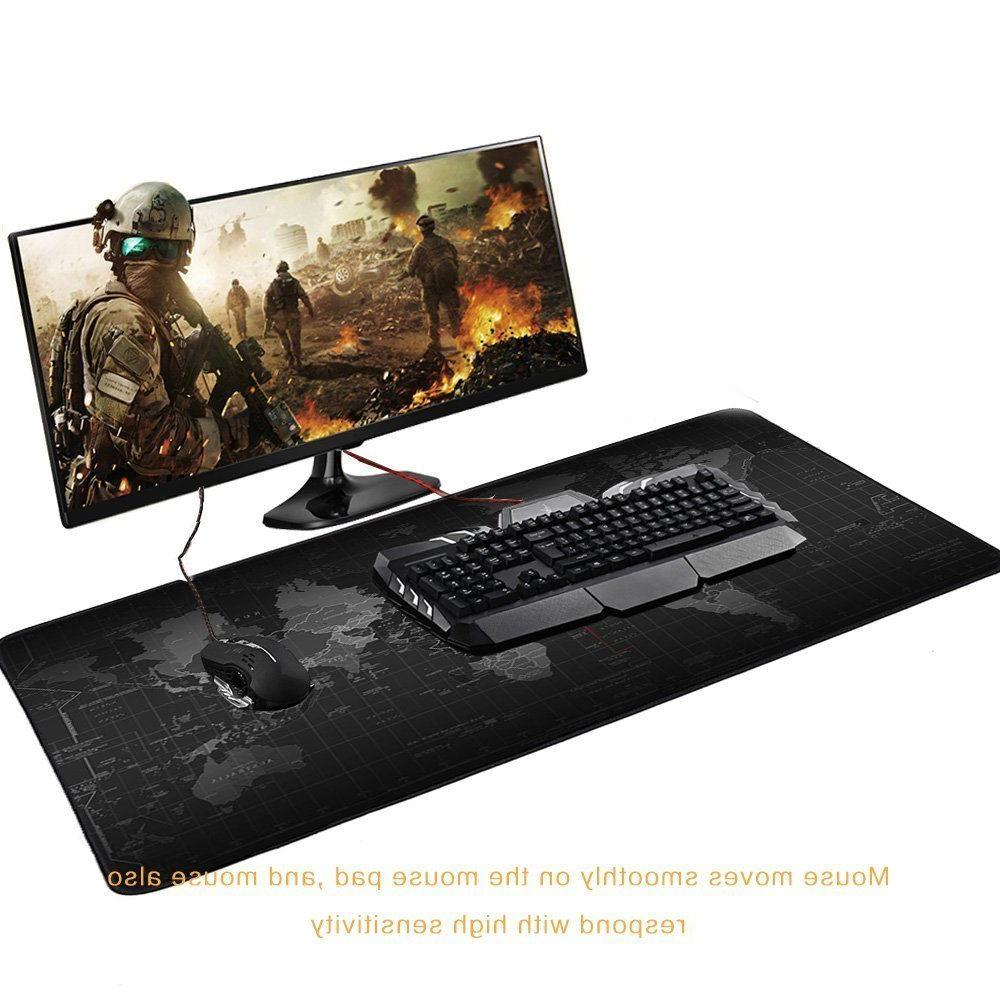 Extended Gaming Big Size Desk Mat Black