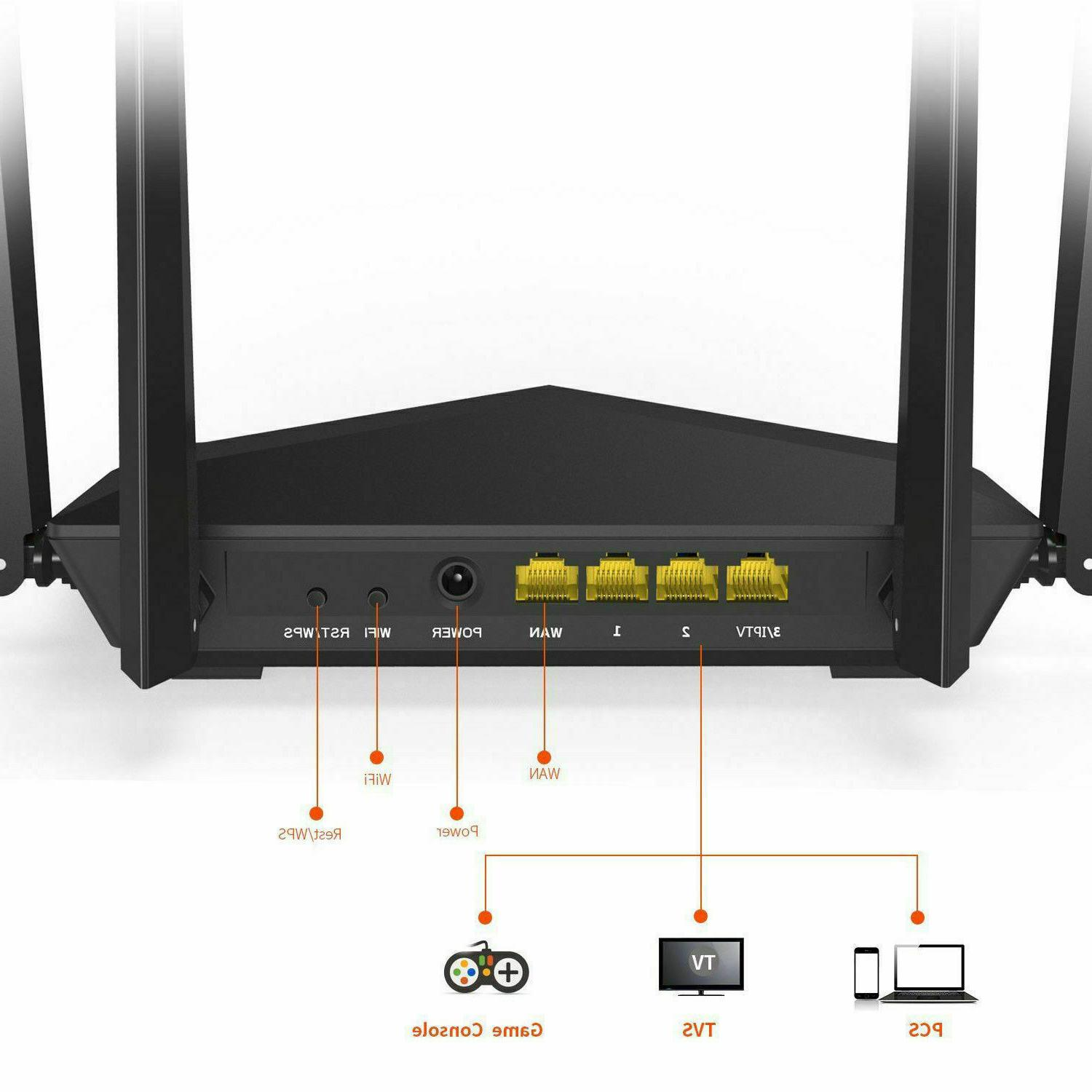 AC1200 Dual Fast Ethernet Router WiFi Network Wireless