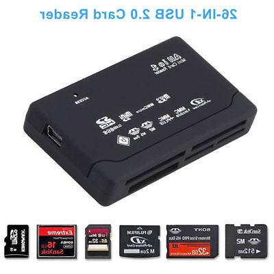 Black Mini USB 2.0 Memory Card SD MS SDHC