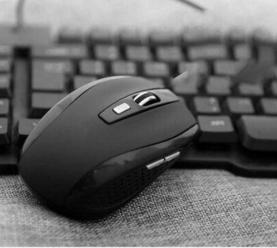 Black Wireless Mouse USB Laptop 2.4GHZ