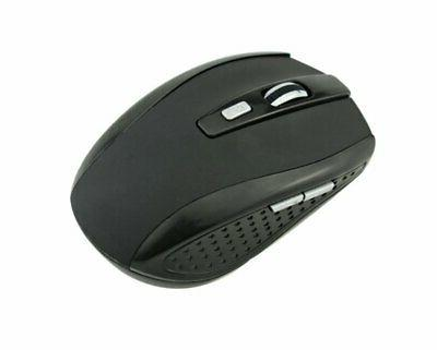 black wireless mouse optical usb laptop pc