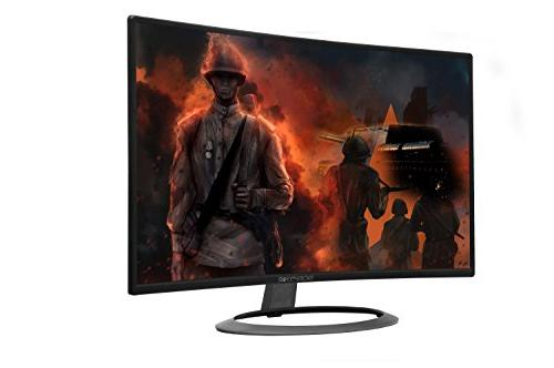 "Sceptre 27"" Curved LED Monitor C278W-1920R HD VGA Speakers, Metal Black, 1800R immersive Curvature,"
