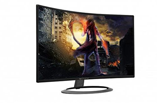 Sceptre Curved LED Monitor Full HD VGA Metal Black, 1800R immersive Curvature,