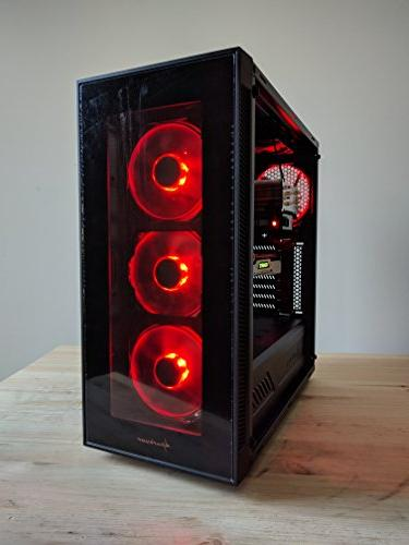 Computer Ryzen 7 4.1GHz Octa-Core , Nvidia 250GB SSD + HDD, 10 WiFi, Tempered Glass, Cooler