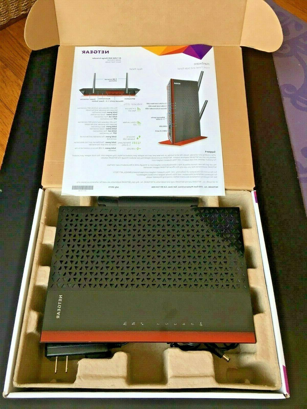 Netgear EX6200 Wireless Range Extender AC1200 BARELY