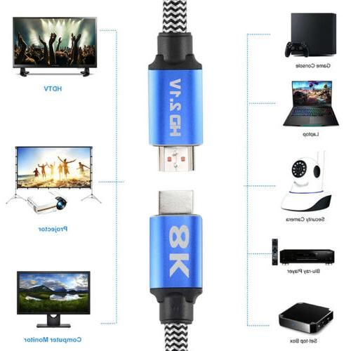 HDMI 2.1 8K Video Cable TV Computer