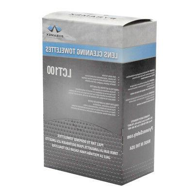 individually packaged lens cleaning towelettes