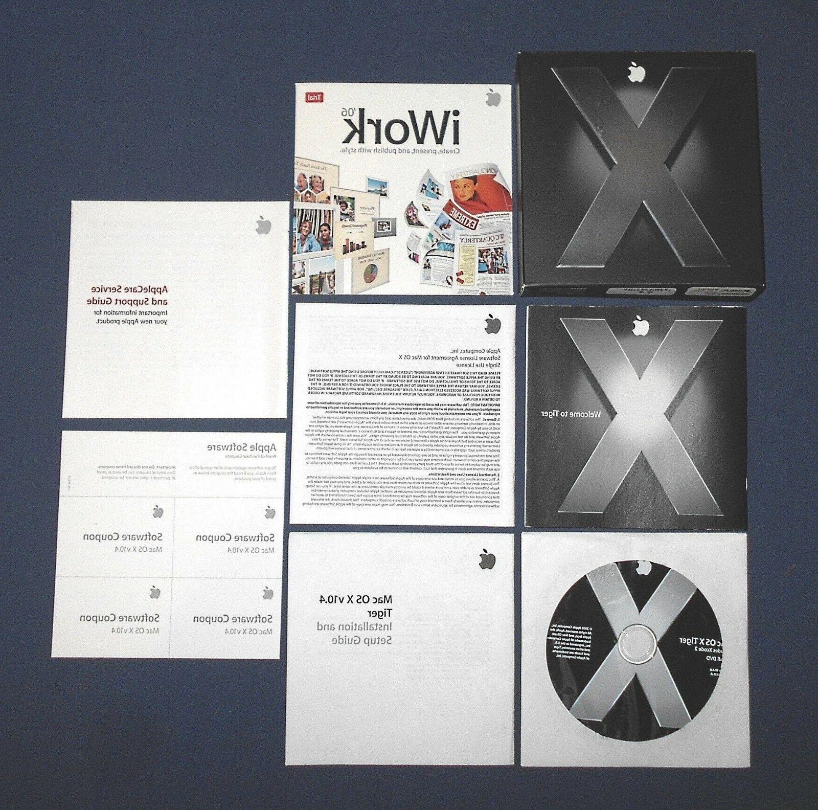 Mac OS X Version 10.4.6 Tiger ~ Apple Macintosh Computer Ope