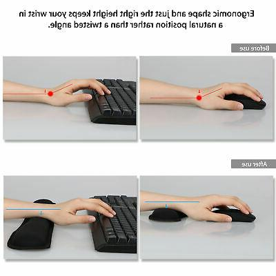 Memory Mouse Mat Keyboard Rest Support for Laptop