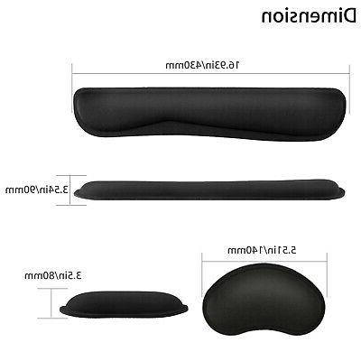 Memory Mouse Mat Wrist Rest Support for Laptop