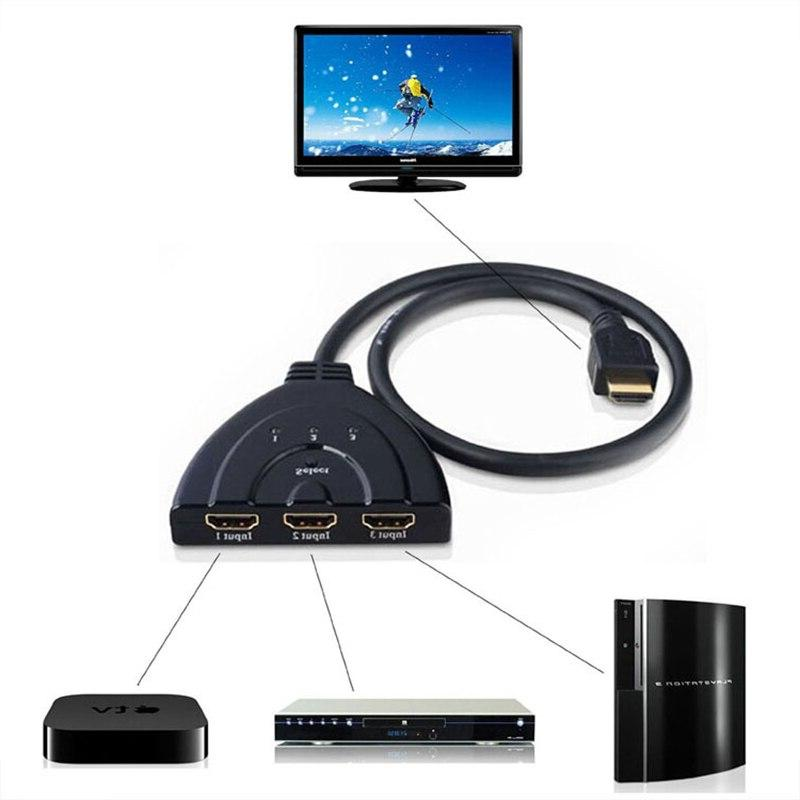 Amkle <font><b>HDMI</b></font> Adapter Cable 1.4b 4K*2K Switcher <font><b>HDMI</b></font> Switch 3 1 for PS3 PS4