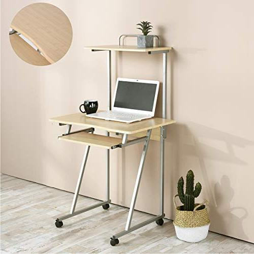 Aingoo Small Workstation with Shelf and Keyboard Space