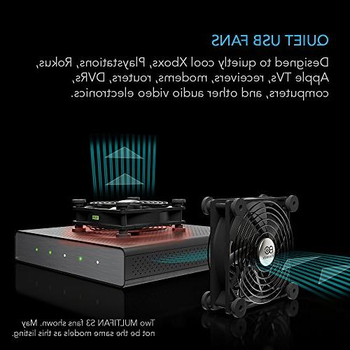 AC Infinity MULTIFAN Quiet 80mm Fan Playstation Xbox Computer Cooling