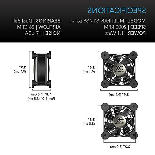 AC Infinity Quiet 80mm Fan for Receiver Playstation Cooling