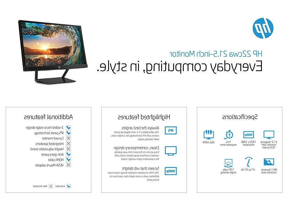 HP Pavilion 21.5-Inch IPS Monitor in box
