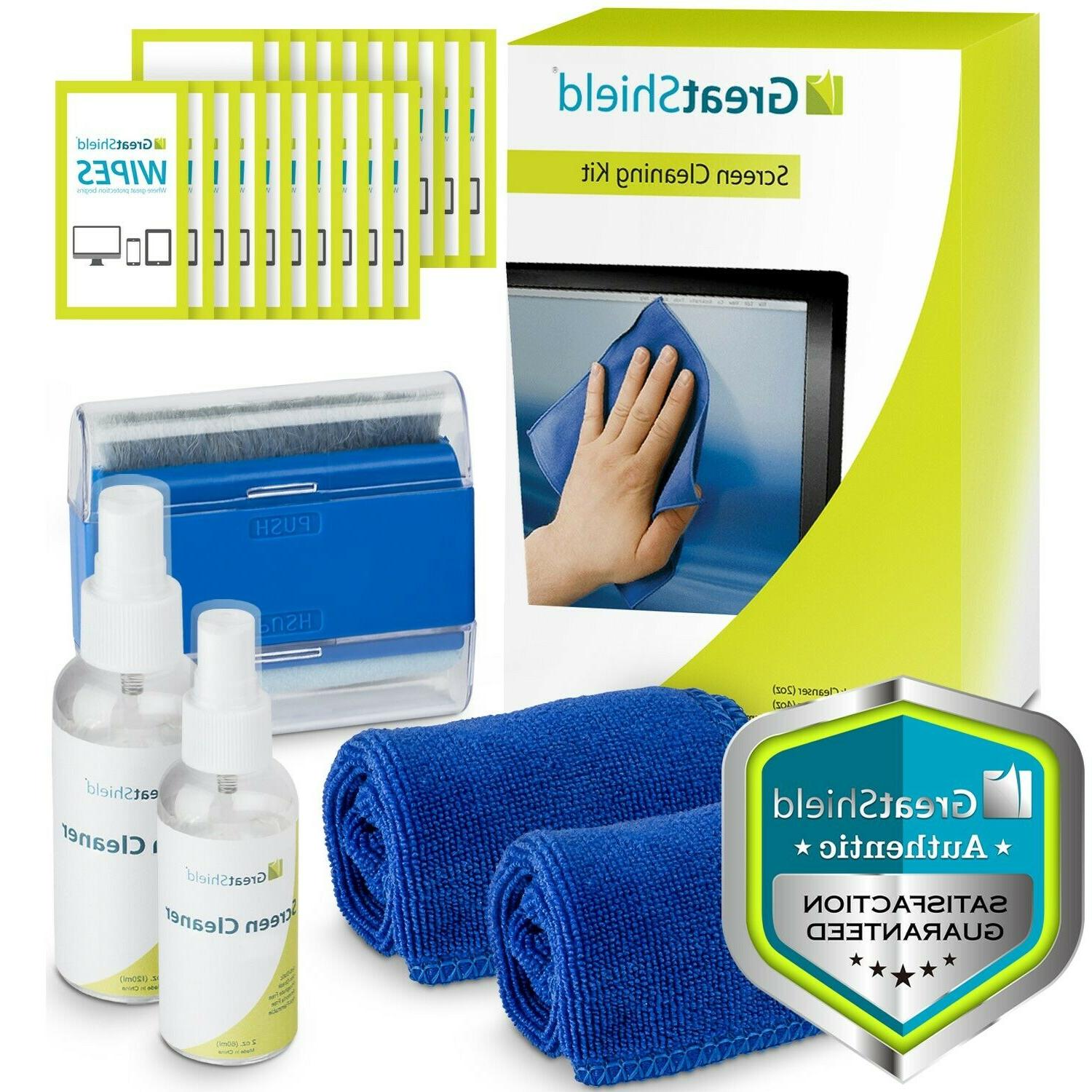 screen cleaning kit cloth wipe brush