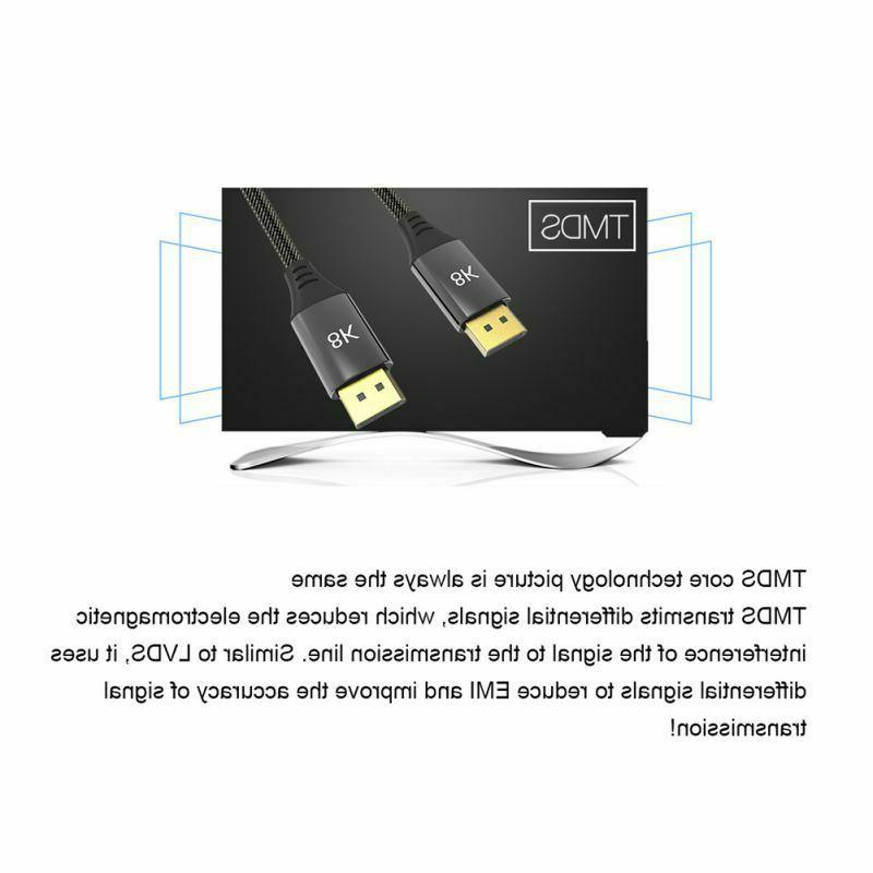 For TV Computer Monitor Projector DP 8K HD Clear Port Cord