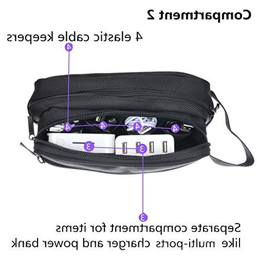 imoli Universal Travel for Accessories, Carrying Chargers, Adapters, Cord, Bank More