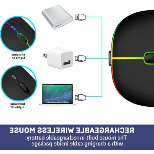 Wireless Mouse Rechargeable Wireless Silent