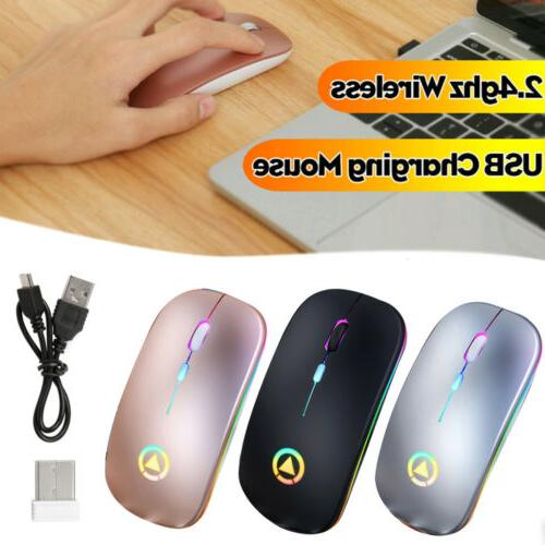 wireless mouse bluetooth rgb rechargeable mice wireless