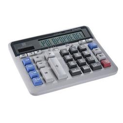 Large Computer Electronic Calculator Counter Solar & Battery