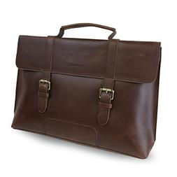 LB1 High Performance Leather Unisex Business Messenger Bag B