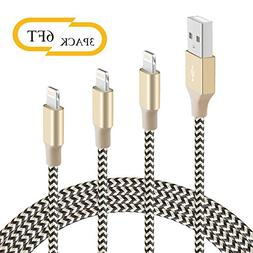 Charging Cable BUDGET & GOOD Phone Charging Cable 3 Pack 6FT