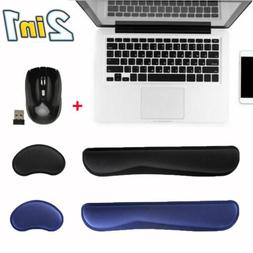 Memory Foam Mouse Pad Mat Keyboard Wrist Rest Support for Co