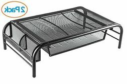 Halter Mesh Metal Monitor Stand/Riser with Pull Out Drawer a