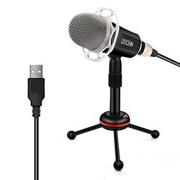 TONOR Microphone USB PC, Condenser Mic with Stand for Chatti
