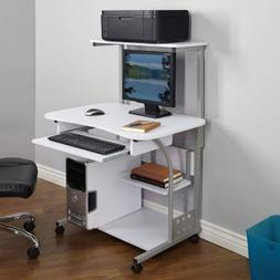 Generic 50163BLK Mobile Computer Tower with Shelf,White