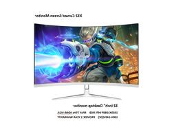 New Curved 32 inch 75hz Gaming PC Monitor HD LED Curved Moni