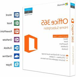 Microsoft Office 365 Home 1 Year Subscription for 5 PC or Ma