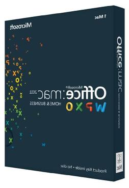 Office Mac Home & Business 2011 Key Card