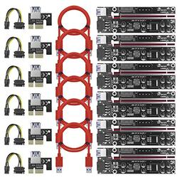 PCI-E Risers Mining Riser BesCarol Latest VER 009S-X Powered