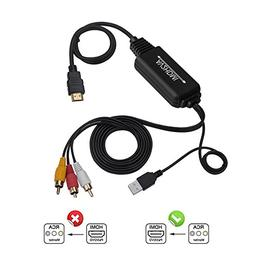 RCA to HDMI Converter Cable, AV to HDMI Adapter Cable Cord,
