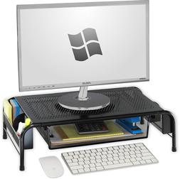 SimpleHouseware Metal Desk Monitor Stand Riser with Organize