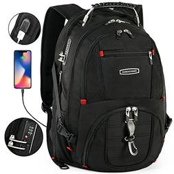 Cross Gear TSA Laptop Backpack with USB Charging Port and Co