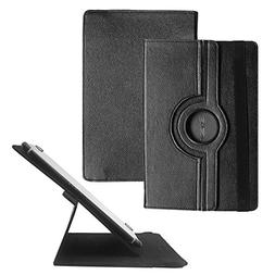 Tsmine Universal 360 Degree Rotating Leather Case Stand Cove