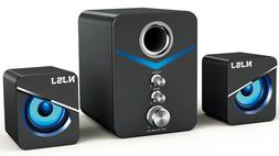 USB 2.1 Computer Speakers with Subwoofer,3.5mm Multimedia Sp