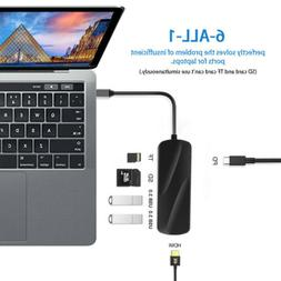 USB C Hub Type C Adapter HDMI USB 3.0 Splitter Card Reader C