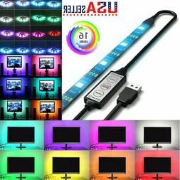 2Pcs USB Powered RGB 5050 LED Strip Lighting for TV Computer