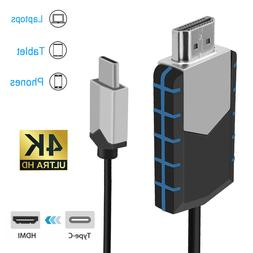 USB Type-C to HDMI 4K HDTV TV Cable Adapter High Speed For M