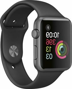 Apple Watch Series 1 42mm Space Gray Aluminum Case with Blac