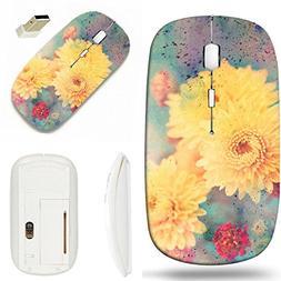 MSD Wireless Mouse White Base Travel 2.4G Wireless Mice with
