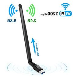 Wireless USB Wifi adapter for Desktop/PC//Laptop ac1200Mbps,
