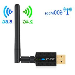 Wireless USB WiFi Adapter AC 600Mbps Dual Band 2.4G/150Mbps+