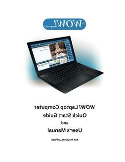 WOW! Laptop Computer Quick Start Guide and User's Manual: HP